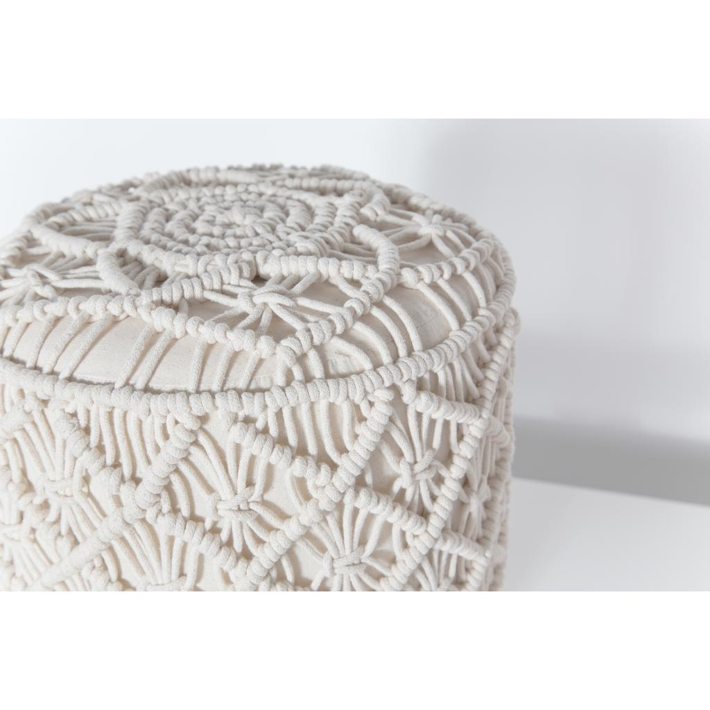 Fabulous Bohemian Vintage Macrame Stool With Natural Wooden Legs Ibusinesslaw Wood Chair Design Ideas Ibusinesslaworg