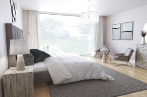 London Fog inspired bedroom by Spaces by Jacflash Jaclyn Genovese