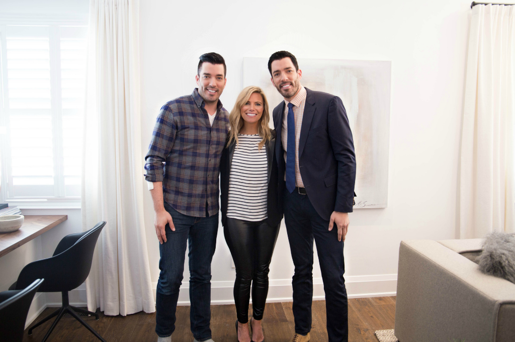 Karin Bennett with Property Brothers Drew and Jonathan Scott